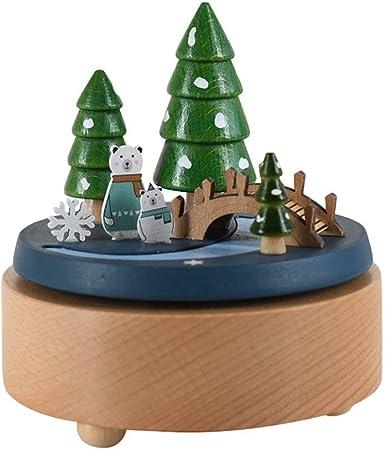 HMBYYHK5 Cajas Musicales Caja de música de Madera con Oso Polar Reproduce la canción Eres mi Sol, Mecanismo Caja de Regalo Musical for Navidad y San Valentín Caja Musica Manual: Amazon.es: Hogar