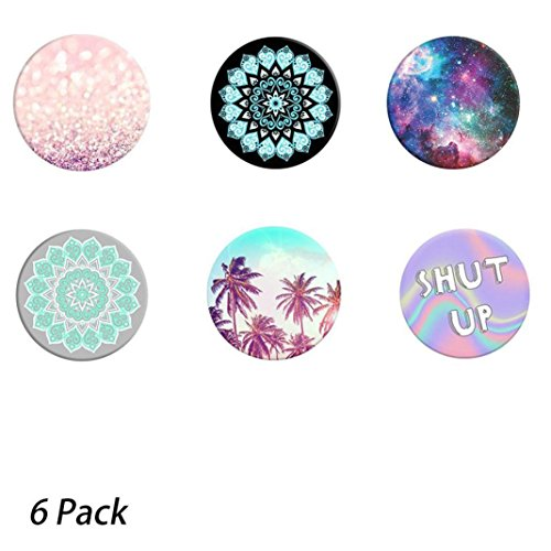 Price comparison product image Sunfei Multi-Function Holder Expanding Stand Grip Pop Socket Mount Set for Smartphones (6Pack)