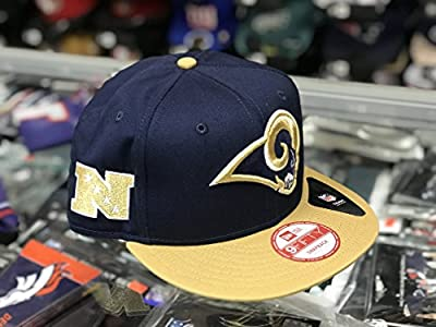 Los Angeles Rams New Era NFL 2017 Playoff Side Patch 9Fifty Snapback Adjustable Hat - Navy by New Era