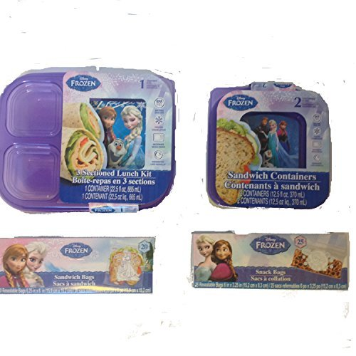 Disney Frozen Lunch Kit Bundle of 4 Items