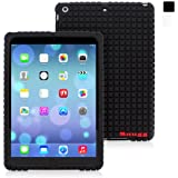 iPad Air Silicone Case, Snugg™ - Protective, Non-Slip Silicone Case With Lifetime Guarantee (Black) For Apple iPad Air