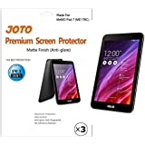 JOTO Screen Protector Film for 2014 ASUS MeMO Pad 7 (ME176CX) Tablet, Anti Fingerprint, Anti Glare (Matte Finish), will only fit New ASUS MeMO Pad 7 inch (ME176CX, ME176C), with Lifetime Replacement Warranty (3 Pack)
