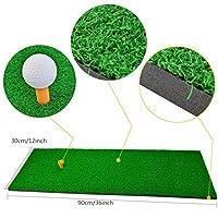 "SUMERSHA Golf Mat 12""x36"" Residential Practice Hitting Mat Rubber Tee Holder"