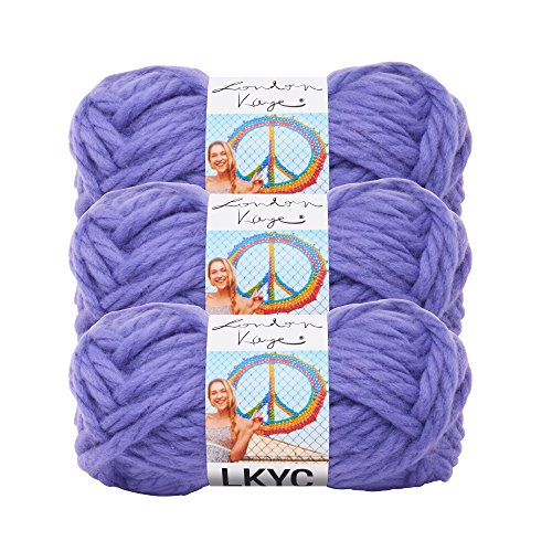 (3 Pack) Lion Brand Yarn 3000-147 London Kaye LKYC Yarn, Velvet