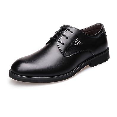 Yaojiaju Formale Geschäfts-Schuhe der Männer glätten PU-Lederne Spleiß-Obere Spitze Oben Breathable gefütterte Oxfords (Farbe : Brown, Size : 41 EU)