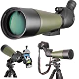 Gosky 20-60 X 80 Porro Prism Spotting Scope- Waterproof Scope for Bird watching Target Shooting Archery Range Outdoor Activities