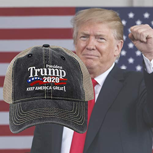 RONGYE 2020 Donald Trump Summer Mesh Adjustable Hat Make America Great Again Republican Embroidered Fashion Cap Summer Hat for Men Outdoor Sports