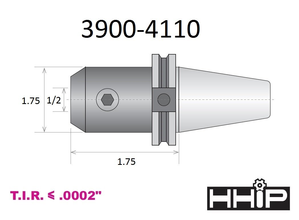 HHIP #40 NMTB X 5//16 INCH END Mill Holder 3900-1701