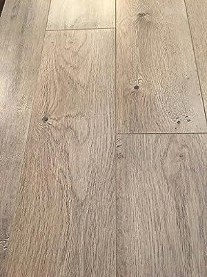 Dekorman 9405A 12mm AC4 CARB2 Click Locking Premium Collection Laminate Flooring-Brown Ash Oak, Beige