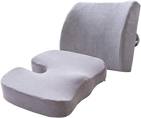 SEGIBUY Cuscino Sedile e Supporto Lombare per Sedia da