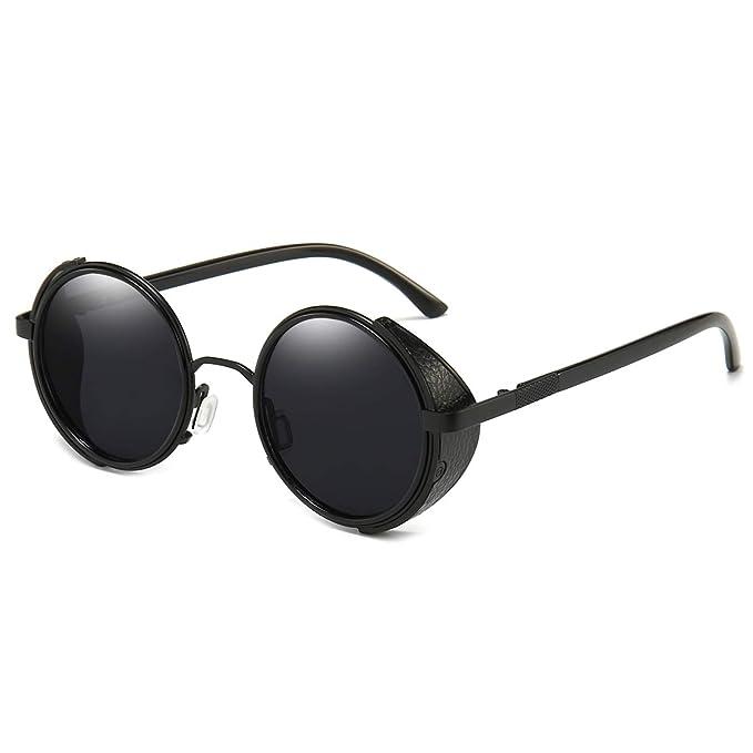 Amazon.com: Dollger Steampunk - Gafas de sol redondas y ...