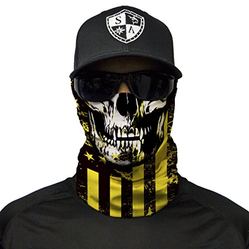 S A CO Official DON'T TREAD ON FREEDOM SKULL Face Shield, Perfect for All Outdoor Activities, Protects Face Against the Elements by S A