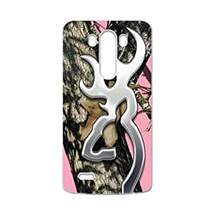 Hoomin Pink Realtree Camo Browning Cutter LG G3 Cell Phone Cases Cover Popular Gifts(Laster Technology)