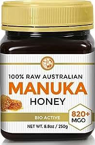 Raw Certified NPA 20+ Highest Grade Manuka Honey MGO 820+ Medicinal Strength - BPA Free Jar - Cold Extraction - Independently Verified