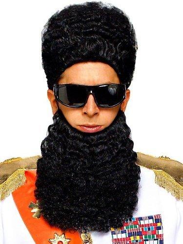 Arab Dictator Wig & Beard Set Costume