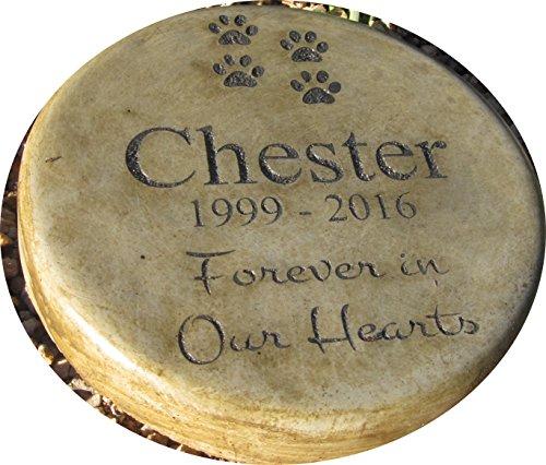 Own Pet Memorial - Personalized Engraved Pet Memorial Step Stone 7.5