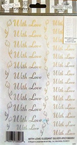 With Love E-Z Rub-On Transfers Elegant ()