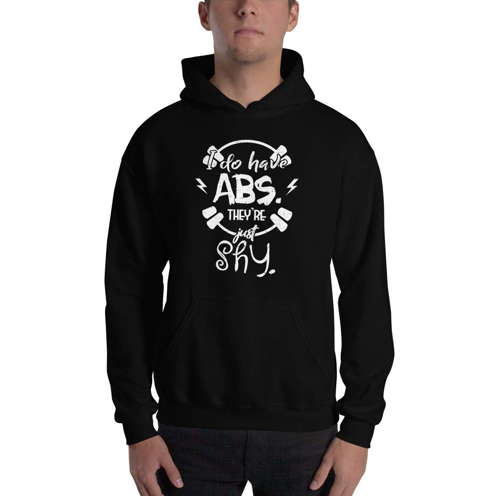 Spicy Cold Apparel I Do Have ABS.They Re Just Shy Gildan 18500 Mens Heavy Blend Fleece Classic Fit Hooded Sweatshirt