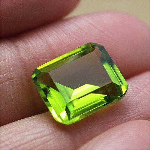 (Peridot Rectangle Faceted Gemstone Emerald Cut Peridot Gem 10X12mm C18G)
