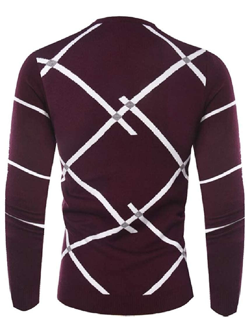 M/&S/&W Mens Casual Lightweight Printing Warm Knitwear Knitted Pullover Sweaters