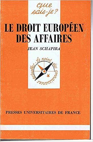 le droit europeen des affaires pdf epub