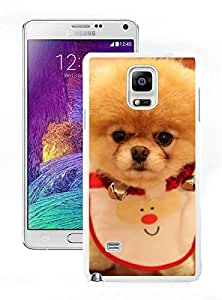 Personalized Christmas Dog White Samsung Galaxy Note 4 Case 23