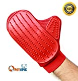 Pet Grooming Glove Brush - Pet Hair Remove and Bathing Mitt for Dogs, Cats and Horses – Clean and Massage At Once by Pet Epic