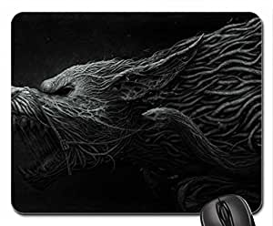 Dark Wolf Mouse Pad, Mousepad (10.2 x 8.3 x 0.12 inches)