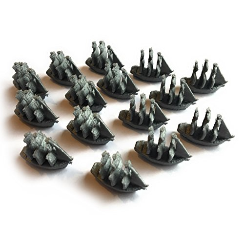 Settlers of Catan Seafarers Expansion Replacement Ship Pieces - Gothic Empire - Gray - Single Player Set - 15 ()