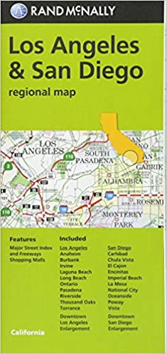 ??BETTER?? Rand McNally Los Angeles & San Diego, California Regional Map. Superior puede options going sexual sitios