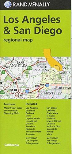 Rand McNally Los Angeles & San Diego, CA Regional Map (Green Cover)