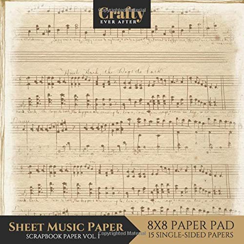 graphic regarding Printable Sheet Music for Crafts named : Sheet Audio Paper Sbook Paper: Classic Audio