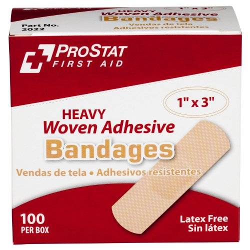 (ProStat First Aid 2022 Heavy Woven Adhesive Bandage, 3