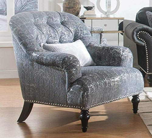 Farmhouse Accent Chairs ACME Chair, Pattern Gray Velvet farmhouse accent chairs