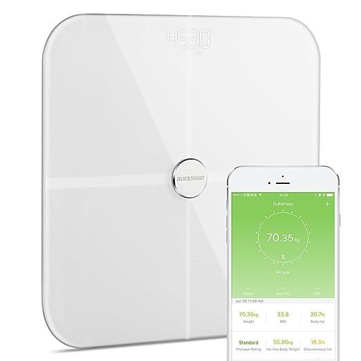 3 opinioni per Rukerway Smart Bilancia Bluetooth, ITO Bilancia Diagnostica, Monitor di 14
