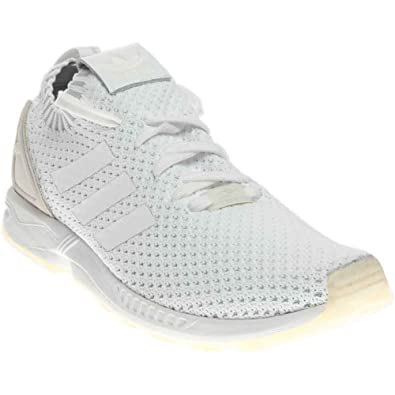 adidas Zx Flux Pk Athletic Men s Shoes Size 8.5 White White 11471db3a