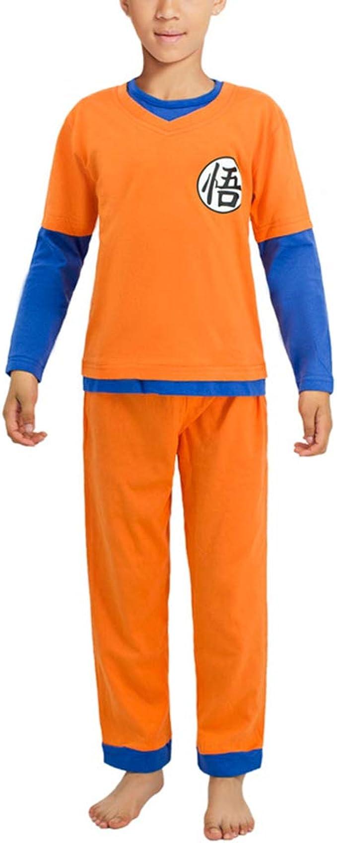 Dragon Ball Goku Pijamas para niños Conjunto Niños Niñas Camiseta de Manga Larga y Pantalones Largos Pijamas con Temas de Anime 2 Piezas Set Dragon ...