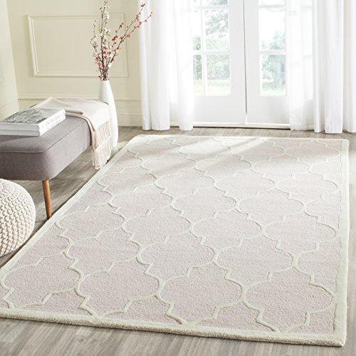 Safavieh CAM134M-5 Area Rug, 5' x 8', Light Pink/Ivory (Rug Textured White)