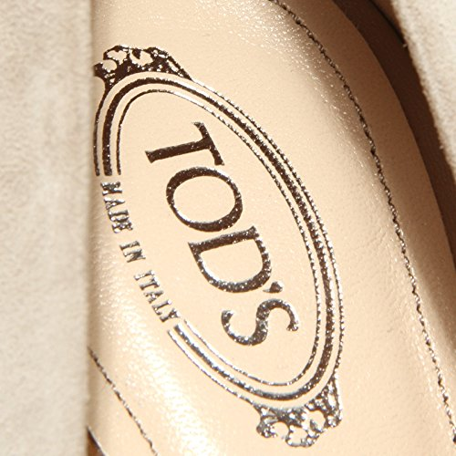 Scarpa 55664 Zeppa RD Tod's Women Beige Shoes Decollete spuntato Donna gqpdwX