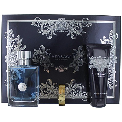 Versace Pour Homme Christmas Gift Box Set 2016 For Men - Eau De Toilette, Shower Gel, Golden Money Clip - Crisp & Fresh Luxury - Macy's Versace