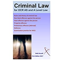 Criminal Law for OCR AS and A level: with an introduction to the nature of law