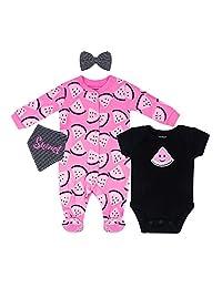 Petit Lem Baby 4-Pc Pajama Set, Footie, Onesie, Bib, Hat or Bow