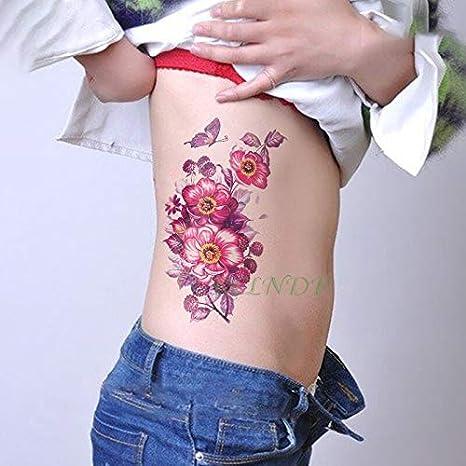 Etiqueta Resistente al Agua Tatuaje Temporal números Romanos Flor ...