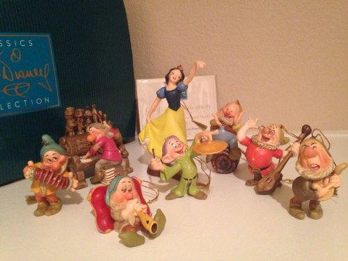 WDCC Snow White And The Seven Dwarfs Ornaments 8 Piece New