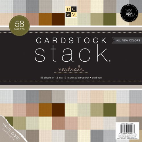 Textured Neutrals Cardstock Stack 12