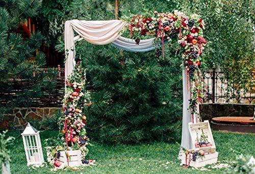 Cortina de Arco de Madera para decoración de Frutas, 7 x 5 pies, para Boda, jardín, Novia, Fiesta, Ceremonia de Boda, sin...