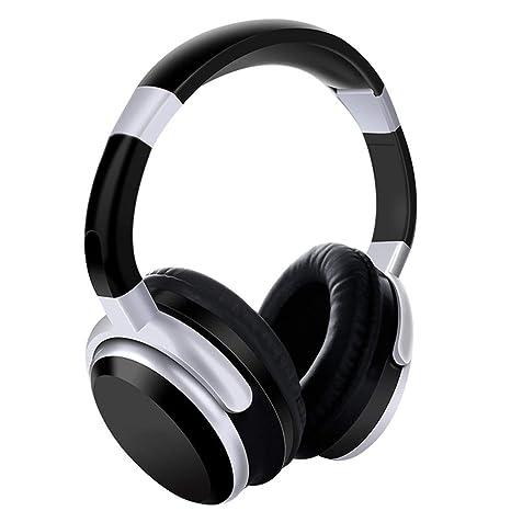 Auriculares con CancelacióN De Ruido Activa Auriculares Bluetooth Hi-Fi MicróFono Bajo Profundo Auriculares InaláMbricos