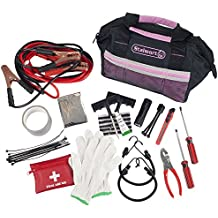 Stalwart 75-EMG2053 Pink Emergency Roadside Kit with Travel Bag, 55 Piece