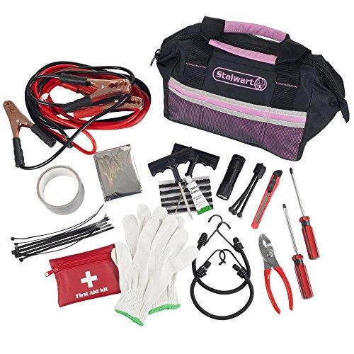 Stalwart 75-EMG2053 Pink Emergency Roadside Kit with Travel