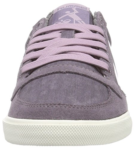 Hummel SS Waxed Herringbone Lo, Sneakers Basses Mixte Adulte, Violet (Shark 2301), 36 EU